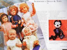 15p History Article - Antique Schoenhut Dolls Toys - Circus Safari Negro Dude