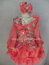 Infant/toddler/kids/baby/children Gliz Girl's Pageant Dress Long Sleeves 3T
