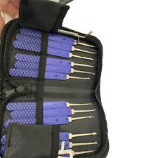 17PCS Lock Pick Tools Unlocking Kit Set Key Extractor Practice Padlocks With Bag