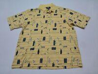 Oak Creek Shirt Mens Size M Yellow Golf Knit Polo Shirt Good Condition