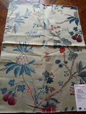 "SCALAMANDRE ~ COLONY Fabric Remnant - LA PEROUSE - LAMPAS - 25"" x 18"" - $561"
