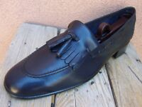 BALLY SWITZERLAND Mens Dress Shoes Soft Blue Leather Slip On Loafers Size 10.5N