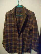 VTG Pendleton brown Shadow Plaid Western Shirt Wool 16 1/2