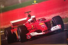 Ferrari F1 Rubens Barrichello Factory Car Poster Extremely Rare! Own It!! WOW!!