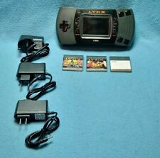 Atari Lynx Model 2 Console + 3 games + adapter
