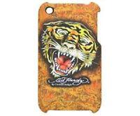 ED HARDY TIGER Hard Case Tasche Schale Schutz Hülle + Folie Apple iPhone 3GS 3G