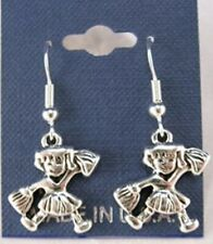 Little Cheerleader Earrings French Hooks - Free shipping