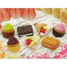 7 pieces Iwako erasers - Cake Biscuit Crepe (Color May Vary) s-3570 AU