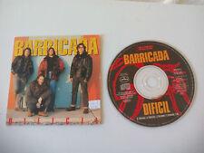 Barricada Dificil. Promo. Promotional. CD SINGLE