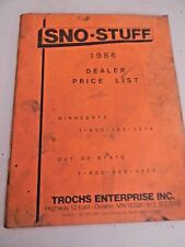 Sno-Stuff Dealer Price List 1986 MN- Snowmobile Parts