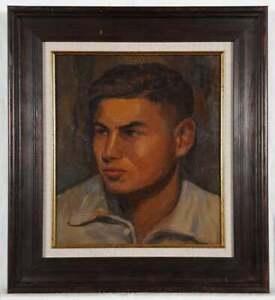 Original oil painting, Male Portrait, Boy's Portrait
