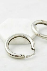 URBAN OUTFITTERS Bold Hoop Earrings SILVER TONE Brand New