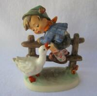 M I Hummel Goebel BARNYARD HERO Porcelain Figurine Germany Mold 195 TMK5