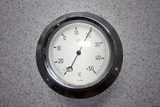 Thermomètre professionnel mural inox - 30°C + 50°C