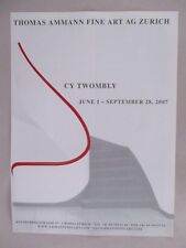 Cy Twombly Art Gallery Exhibit PRINT AD - 2007