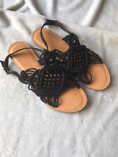 Very Black Sandals Size 7