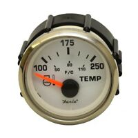 Faria Boat Temperature Gauge GP7793A | Stingray 2 Inch Silver White