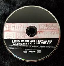 Audio CD - 3 DOORS DOWN - When I'm Gone Promo Single  Like New (LN) WORLDWIDE CP