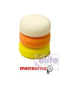 Menzerna 80mm Spot Pads White/Orange/Yellow Triple Pack - Compound/Polish/Finish