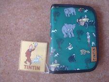 Tintin Pencil Case (rectangular) - Tintin in the Congo Design - Green - New