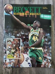 Beckett Basketball Card Monthly October 1993 #39 Shawn Kemp Cover