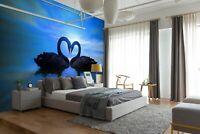 3D Liebe Schwan C233 Geschäft Tapete Wandgemälde Selbstklebend Handel Amy