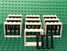 Lego 10 White Window Frame 1x4x3 With 4 End Protrusions Barred Bar / City Prison