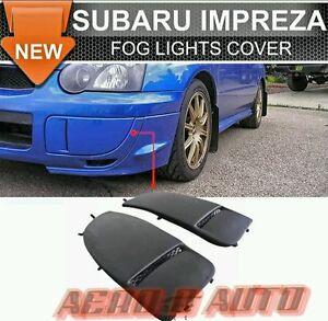 For Subaru Impreza WRX STi 03-05 - Front Fog Covers PU Plastic   UK Stock    NEW