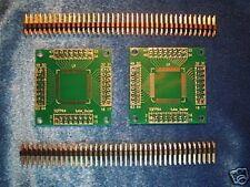 2pcs QFP64 PCB to DIN adapter for ATmega128-16AU