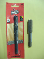 """3/4"""" - 16 NF VERMONT AMERICAN TAP MADE IN USA WITH PROPER SIZE 11/16"""" DRILL BIT"""