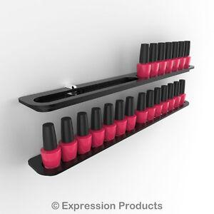 x2 Professional Nail Polish Wall Mounted Display Holders,  28 Bottles total
