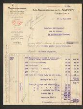 "GRENOBLE (38) USINE de MERCERIE / BOUTONS FERMOIRS PRESSIONS ""L. SAPPEY"" 1930"