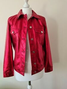 Armani exchange womens blouson jacket size 10 (xs) metalic red brand new