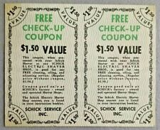 Vintage free check-up coupon by Schick Service Inc -- 3435