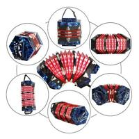 Concertina Accordion 20-Button 40-Reed Anglo Style+Bag Dark Blue Free Ship B7B4