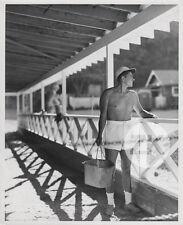 RONALD REAGAN President Actor BEEFCAKE Warner Bros Candid GRAYBILL Photo 1930s