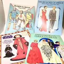 Lot of 4 Paper Doll Books Star Wars, Diana & Charles, Knights in Armour