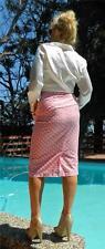 VINTAGE Rockabilly 1950s Original Rare Polka Dot Wiggle Pin up Pencil Skirt