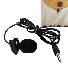 3.5mm Clip-on-Revers Krawatte Mini Lavalier-Mikrofon für Handy & PC Schwarz