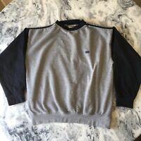 Vintage Gola Sport Colour Block Navy Grey Sweatshirt Sweater Jumper Retro Medium