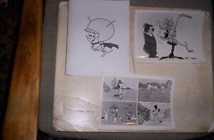 Lot of 3 Hanna Barbera ABC TV Animation Still Photos FLINTSTONES,YOGI BEAR,etc.