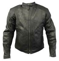 Redline Men's Classic Armor Cowhide Leather Motorcycle Jacket - M-4515 (XL)