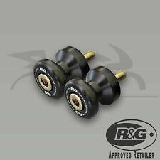 Suzuki GSXR600 2010 L0 R&G Racing Black M8 Cotton Reels Paddock Stand Bobbins