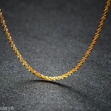 Au750 Real 18K Yellow Gold Necklace Women Full Star Link Chain 2.3-2.6g 18inch
