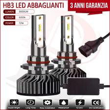 2x Lampade HB3 72W Led Bianco 8000Lm Abbaglianti Canbus Per Honda CR-Z 2010-2016