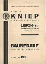 LEIPZIG, Prospekt 1938, Heinrich Kniep Ofen-Herd-Fabrik Industrie Baubedarf