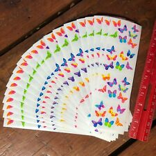 20 sheets Mrs Grossmans Bitsy Butterflies Stickers Insects Garden Pollinator