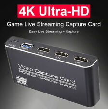 USB3.0 2IN1 Video Capture Card 2X1 HDM Switcher Loop HDM 4Kp60 4K Recorder CY