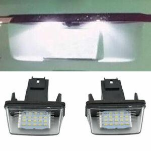 2Pc Error free LED License Plate Lights For Peugeot 206/207/307/308/Citroen C3II