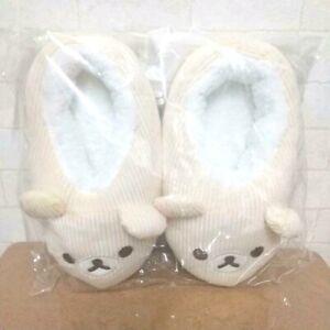 RARE Korilakkuma Corduroy Slippers Rilakkuma Room Shoes US 8.5in Exclusive to JP
